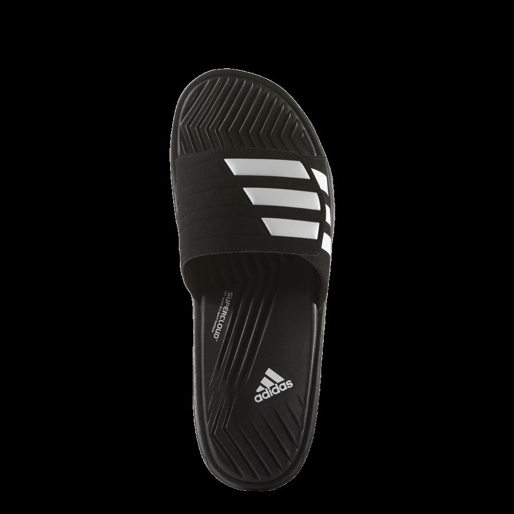 0fbe75fd0822 adidas Mens Izamo Slide in Black White