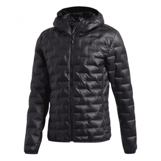 Mens Light Down Hooded Jacket