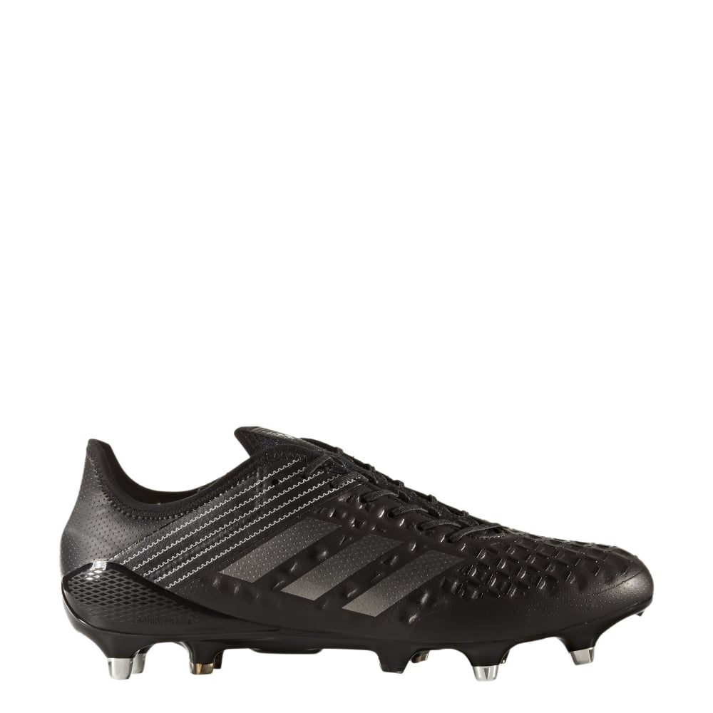 Adidas Mens Predator Malice SG Rugby Boots In Black