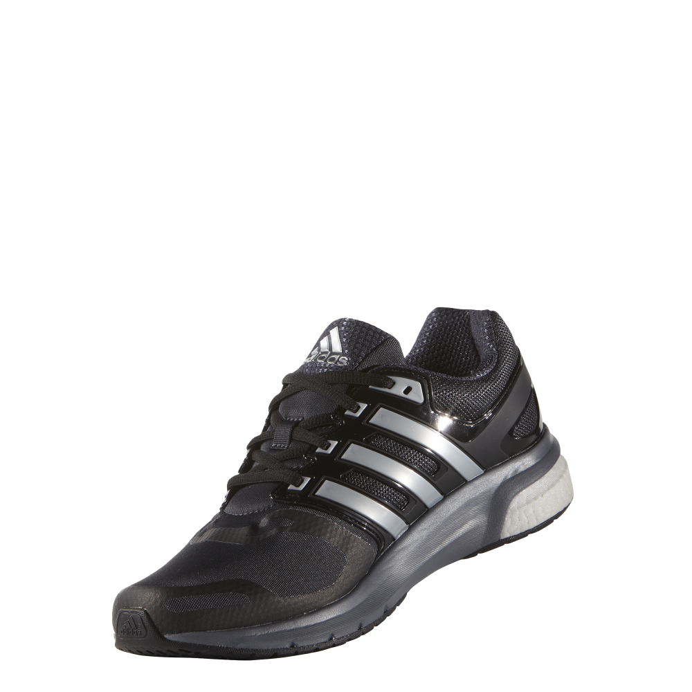adidas mens questar boost in black silver excell sports uk. Black Bedroom Furniture Sets. Home Design Ideas