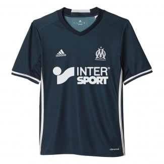 Olympique Marseille Away Junior Short Sleeve Jersey 2016/2017