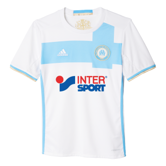 Olympique Marseille Home Junior Short Sleeve Jersey 2016/2017