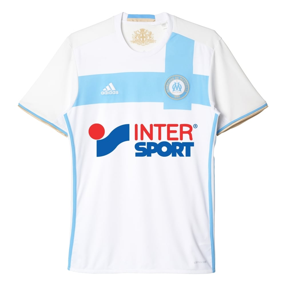 huge selection of 008b5 d86d6 adidas Olympique Marseille Home Mens Short Sleeve Jersey ...