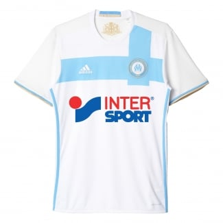Olympique Marseille Home Mens Short Sleeve Jersey 2016/2017