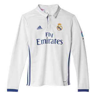 Real Madrid Home Junior Long Sleeve Jersey 2016/2017