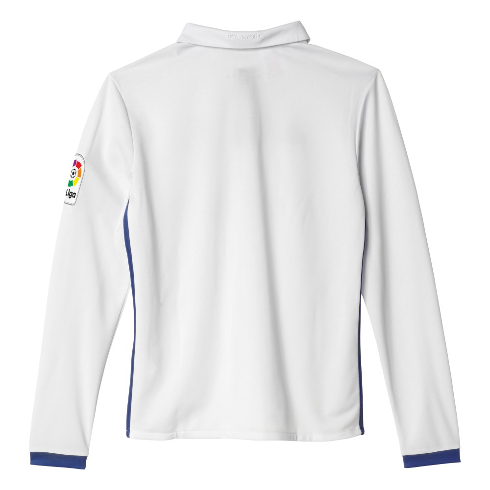reputable site add03 cde4e Adidas Real Madrid Home Junior Long Sleeve Jersey 2016/2017