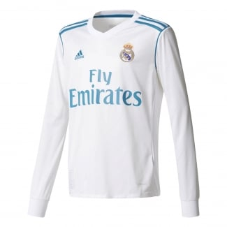 Real Madrid Home Junior Long Sleeve Jersey 2017/2018
