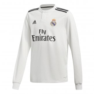 Real Madrid Home Junior Long Sleeve Jersey 2018/2019