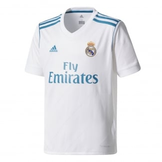 Real Madrid Home Junior Short Sleeve Jersey 2017/2018