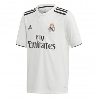 Real Madrid Home Junior Short Sleeve Jersey 2018/2019