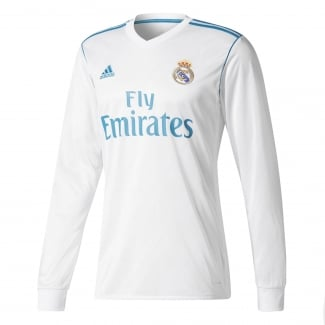 Real Madrid Home Mens Long Sleeve Jersey 2017/2018