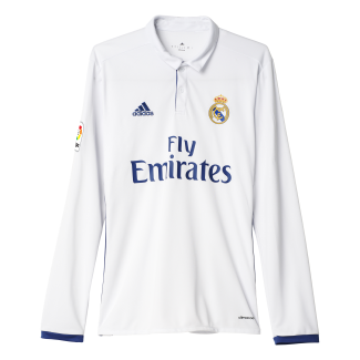 Real Madrid Home Mens Long Sleeve Jersey