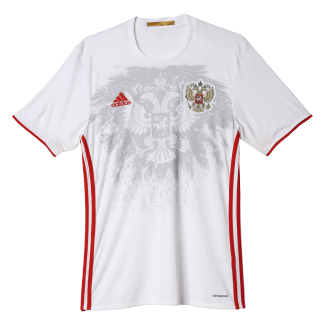 Russia Away Mens Short Sleeve Jersey 2016