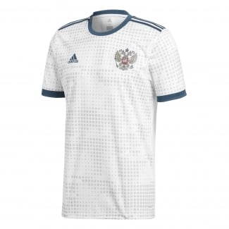 Russia Away Mens Short Sleeve Jersey 2018