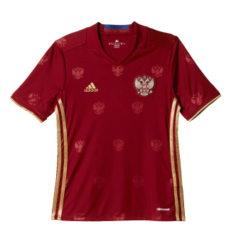 Russia Home Junior Short Sleeve Jersey 2016