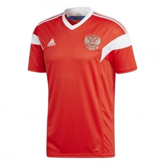 Russia Home Mens Short Sleeve Jersey 2018