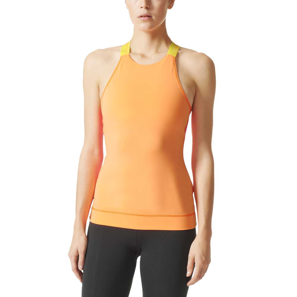 adidas stellasport womens image tank top in orange. Black Bedroom Furniture Sets. Home Design Ideas