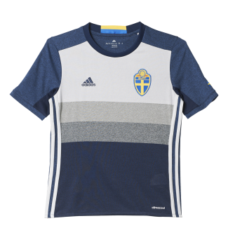 Sweden Away Junior Short Sleeve Jersey 2016
