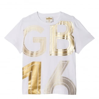 Team GB by Stella McCartney Womens Gold Tee