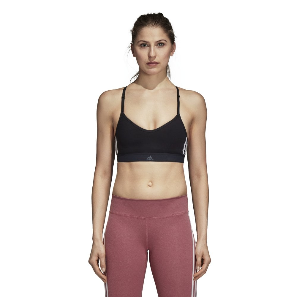 e0d6fe55177fe Adidas Womens All Me 3-Stripes Bra - Adidas from Excell Sports UK