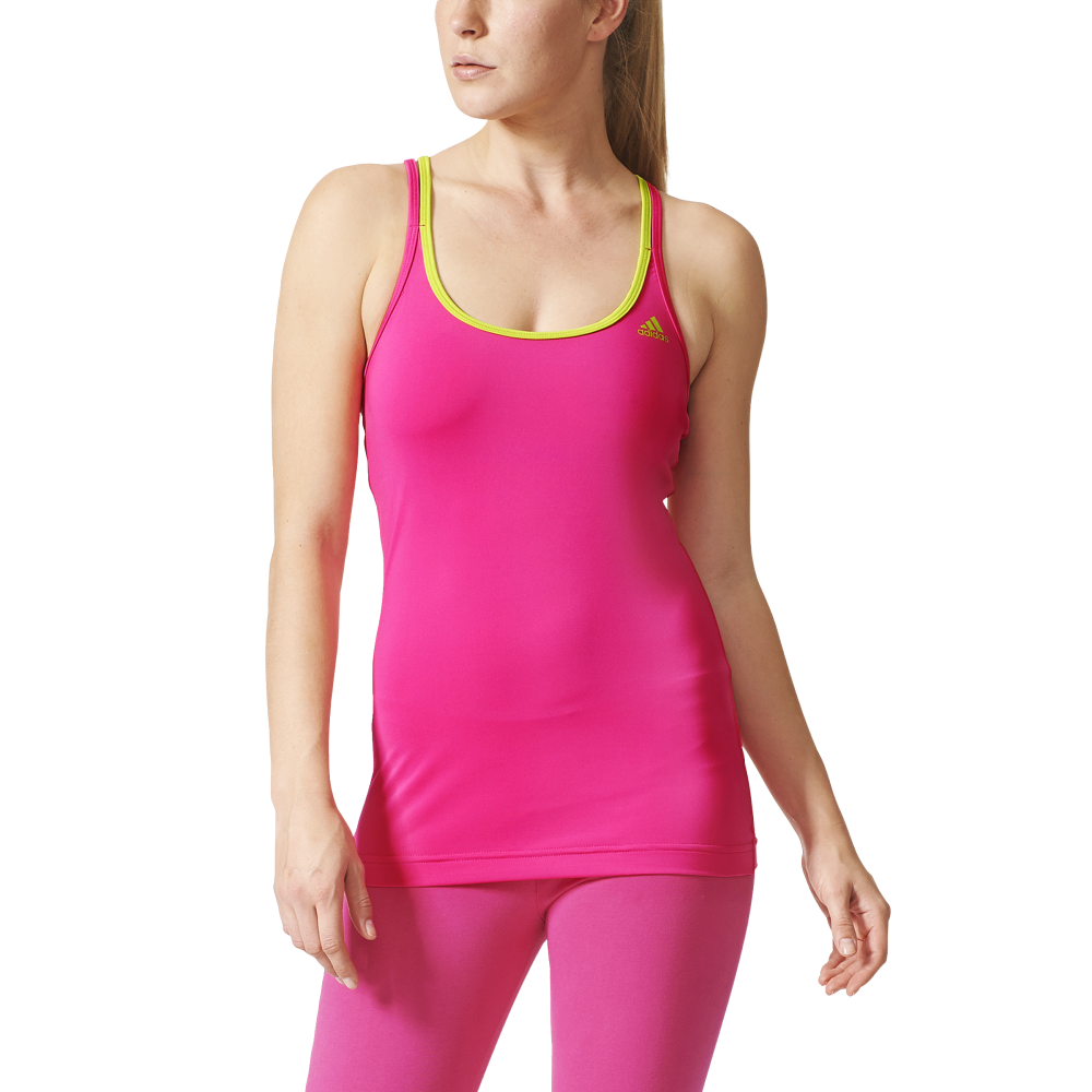 adidas womens basic strappy tank top in pink