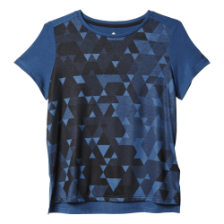Womens Boxy All-Over Print Tee