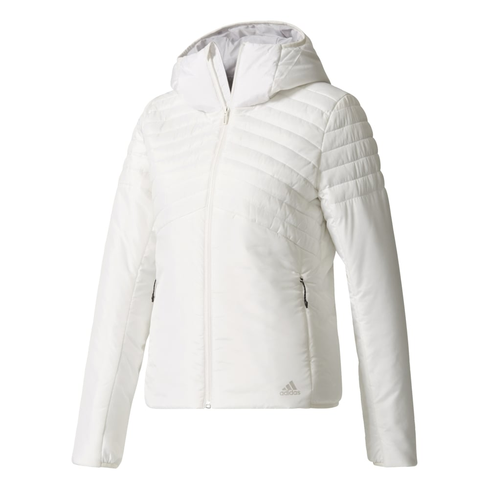 d862b1f71d5c adidas Womens Cytins Padded Hooded Jacket in White