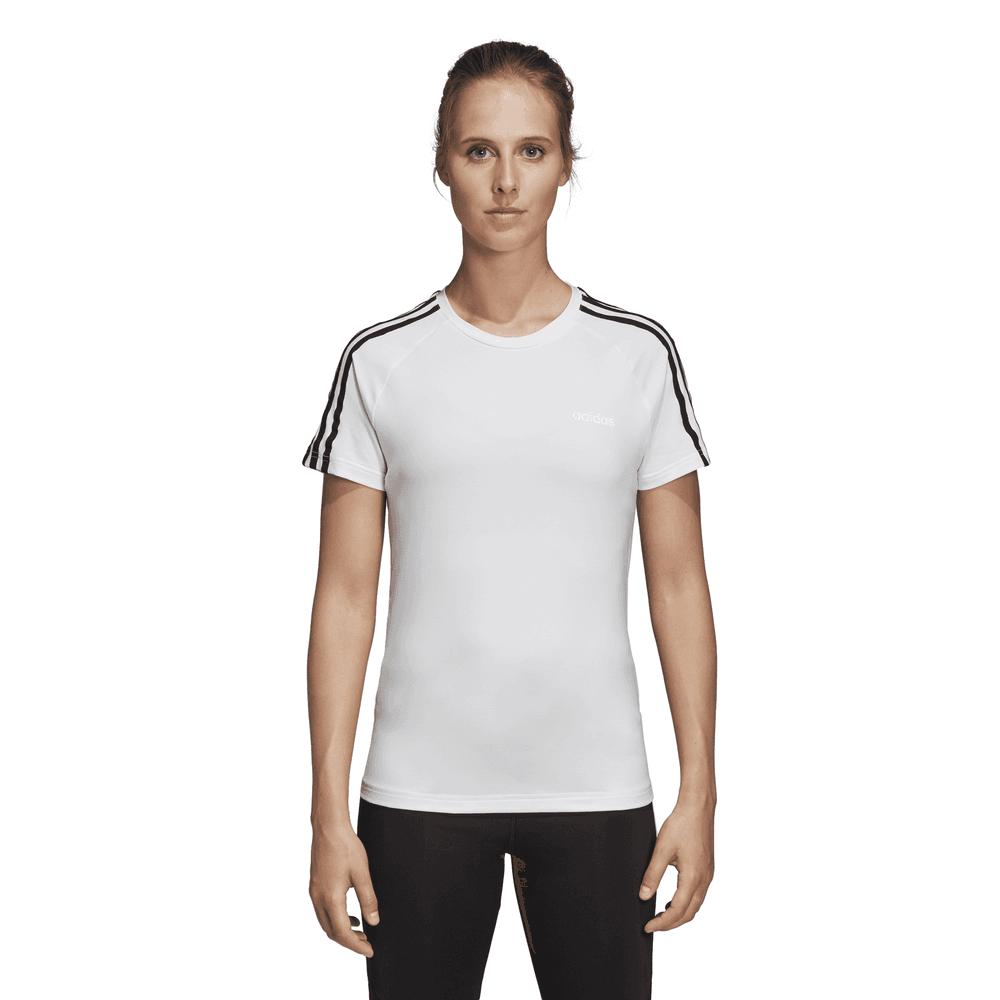 12e1c0216bc4e Adidas Womens Design 2 Move 3-Stripes T-Shirt - Adidas from Excell ...