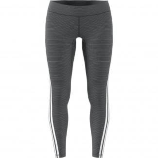 Womens Heathered 3-Stripe Leggings