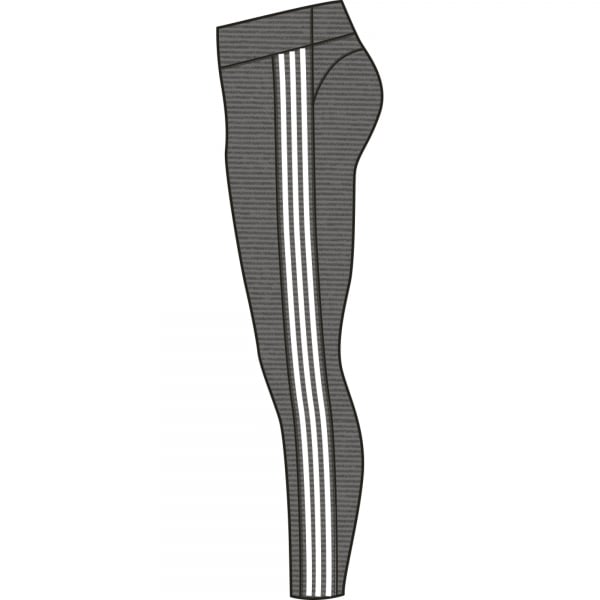 Adidas Womens Heathered 3-Stripe Leggings