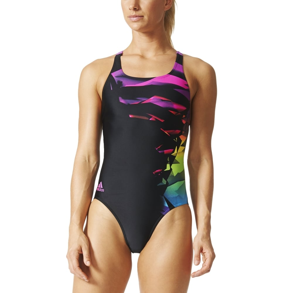 adidas womens infinitex streamline graphic swimsuit. Black Bedroom Furniture Sets. Home Design Ideas