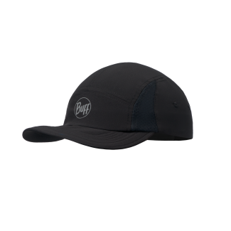 Solid Black Run Cap
