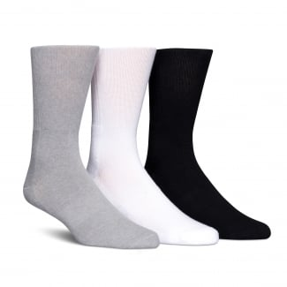 Mens Coolmax 3-Pack Crew Socks