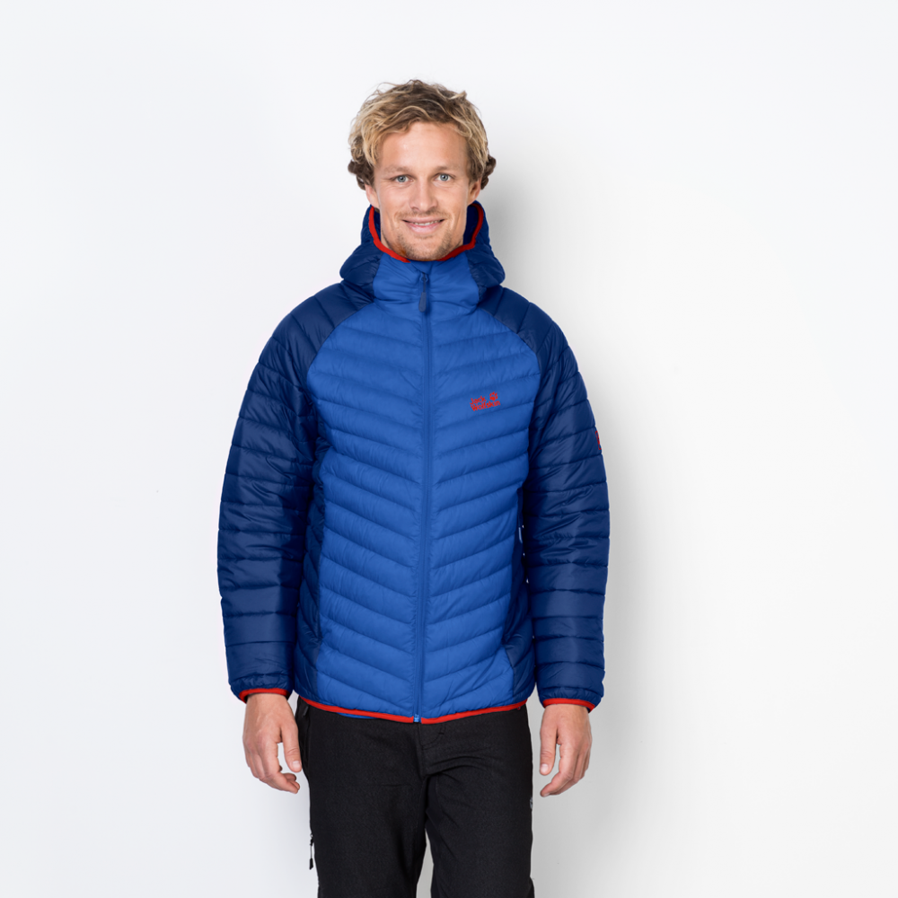513d42e9e2 Jack Wolfskin Mens Zenon Storm Jacket in Blue | Excell Sports UK