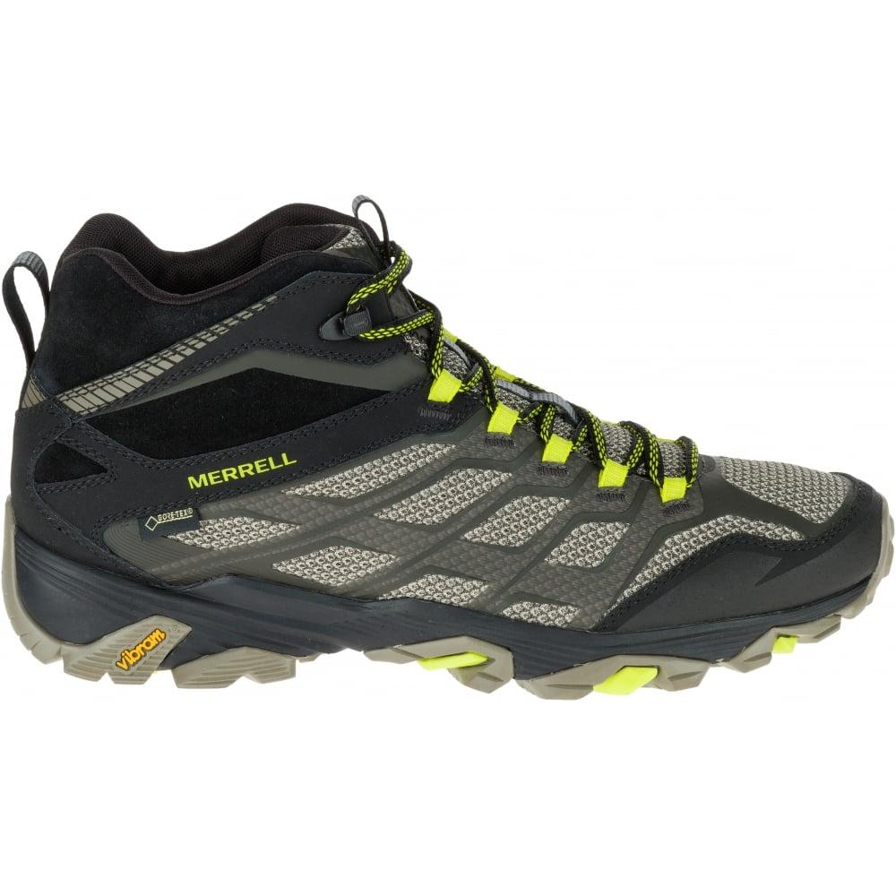 merrell mens moab fst mid waterproof hiking boots uk