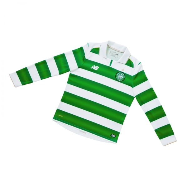 New Balance Celtic Home Junior Long Sleeve Jersey 2016/2017