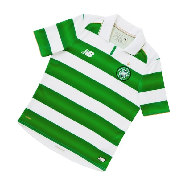 New Balance Celtic Home Junior Short Sleeve Jersey 2016/2017