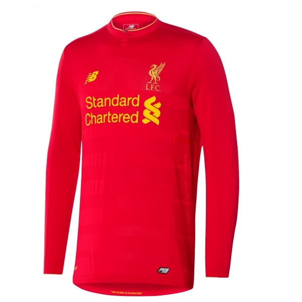 New Balance Liverpool Home Mens Long Sleeve Jersey 2016/2017