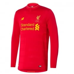 Liverpool Home Mens Long Sleeve Jersey 2016/2017
