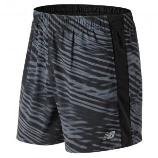 Mens Printed Accelerate 5 Inch Short