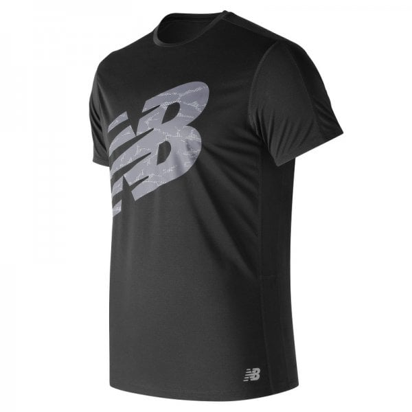New Balance Mens Printed Accelerate Short Sleeve T-Shirt