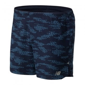 Printed Impact Run Mens 5 Inch Shorts