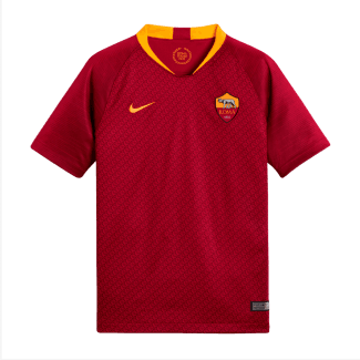 AS Roma Home Junior Short Sleeve Jersey 2018/2019