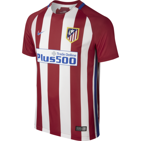 Nike Atletico Madrid Home Junior Short Sleeve Jersey 2016/2017