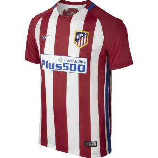 Atletico Madrid Home Junior Short Sleeve Jersey 2016/2017