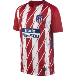Atletico Madrid Home Junior Short Sleeve Jersey 2017/2018
