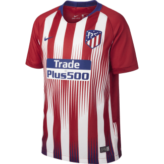 Atletico Madrid Home Junior Short Sleeve Jersey 2018/2019