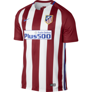 Atletico Madrid Home Mens Short Sleeve Jersey 2016/2017