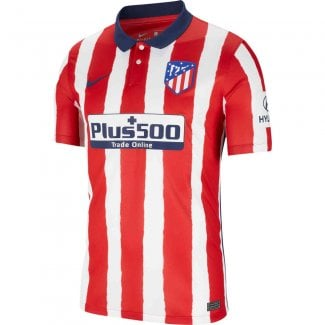 Atletico Madrid Home Mens Short Sleeve Jersey 2020/2021