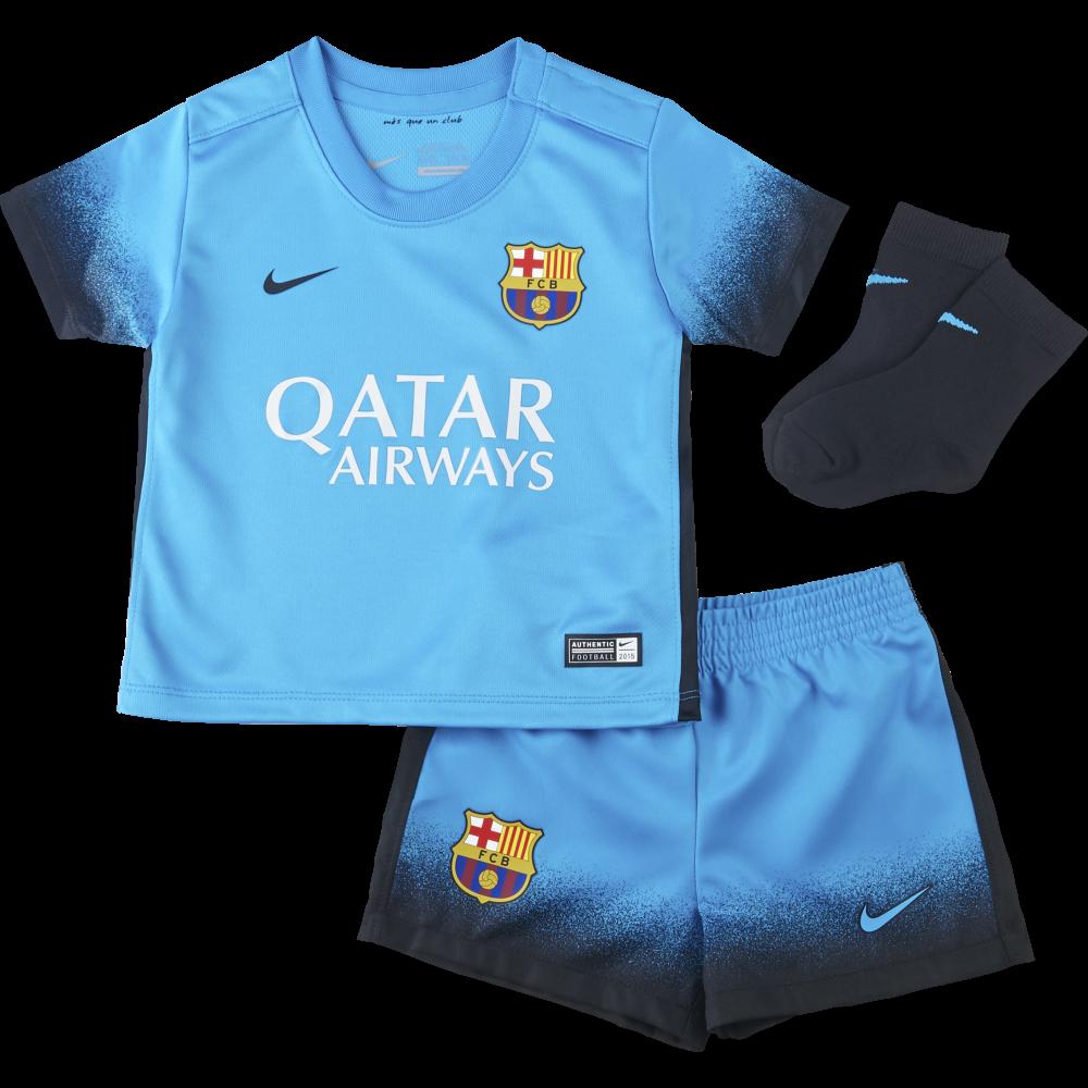 20e5591681b Nike Barcelona 3rd Infant Kit 2015 2016 in Blue